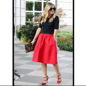 NEW Red Express Full Midi Skirt with Pockets